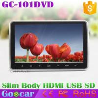 Buy cheap 10-inch headrest monitor HD DVD plug-touch button rear headrest television screen MP5 slim from wholesalers