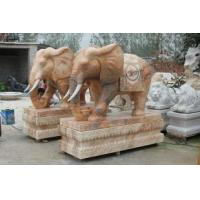 Buy cheap Red marble elephants inventory SDXH004 from wholesalers
