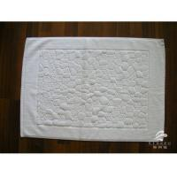 100% Combed Cotton White Terry Bath Mat For Hotel Plain or Dobby Manufactures