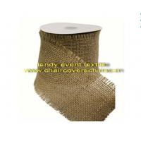 Y-9burlap raw edge ribbon Manufactures