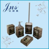 Buy cheap Ceramic bathroom accessories sets with decal from wholesalers