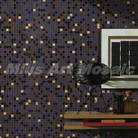 Wholesale Brown grey beige recycled glass mosaic tile MR008 from china suppliers