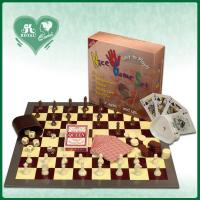 5 in 1 Chess Game Set: Chess Backgammon Checker Playing cards Poker dice (DK501)