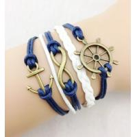 Buy cheap Bangles & Bracelets Vintage Sideway Alloy Ship Anchor Infinity Symbol Digit 8 Charm Bracelet from wholesalers