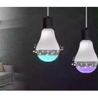 Hot sale LED light bulbs shape Bluetooth Speaker RGB Remote Control LED lamp spe Manufactures