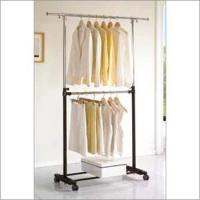 Wholesale 2 Tier Movable Garment Rack from china suppliers