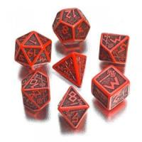 Buy cheap Dwarven Red & Black 7-Dice Set from wholesalers