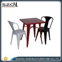 Wholesale new design colorful metal dinning table TMT-001 from china suppliers