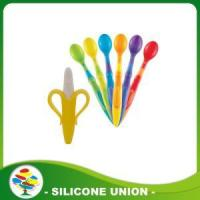 Hot Sale Food Grade Silicone Baby Spoon Toothbrush