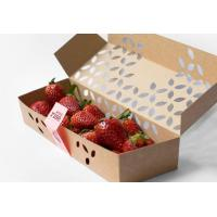 Buy cheap Colorful Printing Fruit Packing Boxes For Fresh Banana / Apple Free Sample from wholesalers