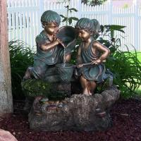 Buy cheap Boy and Girl Playing in Water Outdoor Water Fountain with LED Light by Sunnydaze Decor from wholesalers