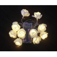 Buy cheap 10LED milk white EVA small rose from wholesalers