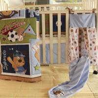 Buy cheap Eco-friendly Factory Supply 9 PCS Baby Boy Sports Cot Bedding Set With Musical Mobile from wholesalers