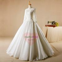 Buy cheap Long Sleeves Ball Gown Lace Wedding Dresses WD1548 from wholesalers