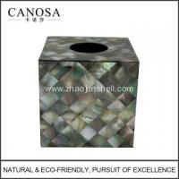 Wholesale Bathroom Accessory Black Mother of Pearl Tissue Box from china suppliers