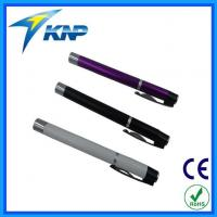 China Colorful 1.5V Battery AAA Hand Press Type Metal Pen Light on sale
