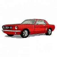 Buy cheap 1965 Ford Mustang Hardtop Coupe 65 Embroidery Design from wholesalers