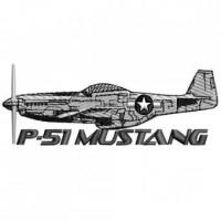 Buy cheap P51 P-51 Mustang Military Plane Embroidery Design from wholesalers