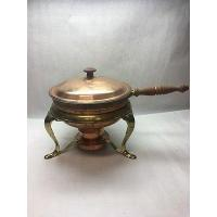 Buy cheap Vintage Chaffing Copper Brass Fondue Pot Chafing Dish lid double boiler . from wholesalers