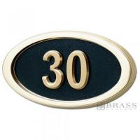 Buy cheap Gaines - 1 Line Black 3 Letter Oval House Number Plaques from wholesalers