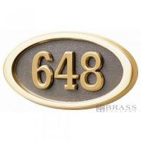 Buy cheap Gaines - 1 Line Bronze 3 Letter Oval House Number Plaques from wholesalers