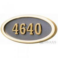 Buy cheap Gaines - 1 Line Bronze 5 Letter Oval House Number Plaques from wholesalers
