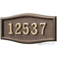 Buy cheap Gaines - 1 Line Bronze 5 Letter Roundtangle House Number Plaques from wholesalers