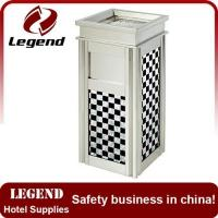 Buy cheap Hotel Lobby ground ashtray bin Metal Garbage Bin from wholesalers