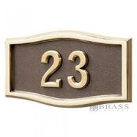 Buy cheap Gaines - 1 Line Bronze 3 Letter Roundtangle House Number Plaques from wholesalers