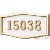 Buy cheap Gaines - 1 Line White 5 Letter Roundtangle House Number Plaques from wholesalers