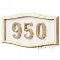 Buy cheap Gaines - 1 Line White 3 Letter Roundtangle House Number Plaques from wholesalers