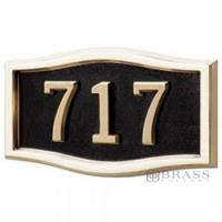 Buy cheap Gaines - 1 Line Black 3 Letter Roundtangle House Number Plaques from wholesalers
