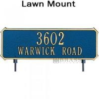 Buy cheap Whitehall - 2 Line Two-sided Rectangle Yard Address Plaques from wholesalers