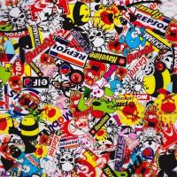 Wholesale Sticker Bomb Cartoon Skulls Pattern Water Transfer Printing Hydro Graphics Film GWAS001 from china suppliers