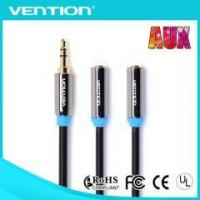 Buy cheap Vention High Quality Red 3.5mm Male To 2 Female audio cable from wholesalers