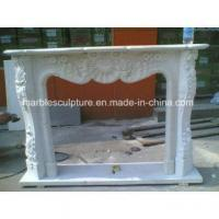 Hot Sale China Fireplace, Carved Pure White Marble Fireplace (SY-MF119) Manufactures