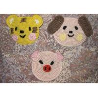 Buy cheap Animal Shaped Round Crochet Floor Rug , 12cm Kids Cartoon Crochet Place Mat from wholesalers