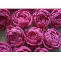 Buy cheap Customized Crochet Accessories Red And Blue Crochet Rose Flower For Decorative from wholesalers