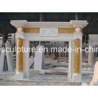 Buy cheap Natural Stone Cylindrical Marble Fireplace (SY-MF227) from wholesalers