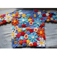 Buy cheap Daisy Twill Cable Knit Sweater Wool Handmade Crochet Sweaters For Women product