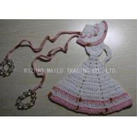 Buy cheap Crochet Christmas Tree Skirt White Dress Cloche Hat With Pink Trimming And Beads product
