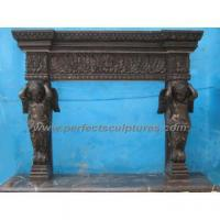Buy cheap Limestone Fireplace with Stone Marble Mantel (QY-LS148) from wholesalers