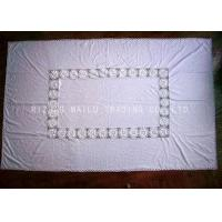 Buy cheap Oblong Shape White Hand Crochet Table Cover , Cotton Fabric Crochet Table Mat product