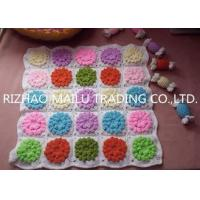 Buy cheap Colorful Multi Flower Square Hand Crochet Stool Cover Car Seat Cover product
