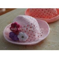 Buy cheap Flat Circular Top Crochet Winter Hat Embossed Style Crochet Toddler Hat from wholesalers