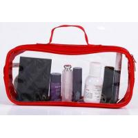 Buy cheap Square Travel Small Mini Red Color Black Color Soft PVC Cosmetic Bag from wholesalers
