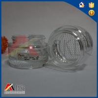 Buy cheap 45ml Glass Cosmetic Jar Clear Color Glass Cream Bottle from wholesalers