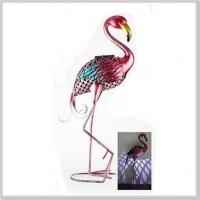 Wholesale Fashionable Flamingo Metal Stake with Solar Powered Light LED Garden Decoration from china suppliers