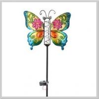 Buy cheap Beautiful Butterfly Metal Solar Light Yard Stake with Rain Rauge from wholesalers