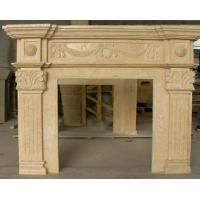 Yellow Fireplace Carving Stone Manufactures
